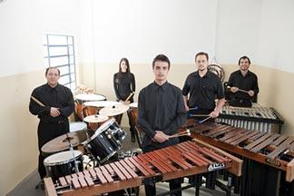Grupo de Percussão do Conservatório de Tatuí em São José do Rio Pardo