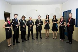 Octeto de Flautas do Conservatório de Tatuí em São José do Rio Pardo