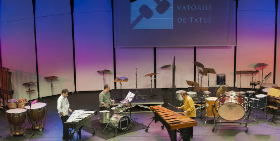 Grupo de Percussão faz concerto eclético no Conservatório de Tatuí