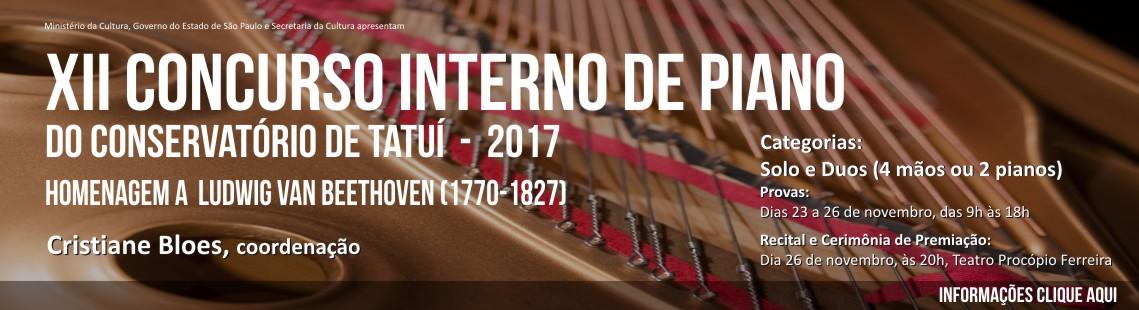 XII CONCURSO INTERNO DE PIANO DO CONSERVATÓRIO DE TATUÍ – EDIÇÃO 2017