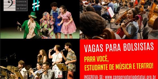 Conservatório de Tatuí abre vagas para bolsistas em grupos de música e teatro